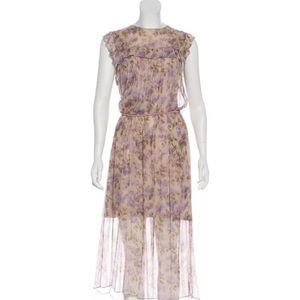 ZIMMERMANN floral dress with slip